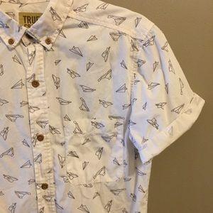 Men's button up airplane shirt